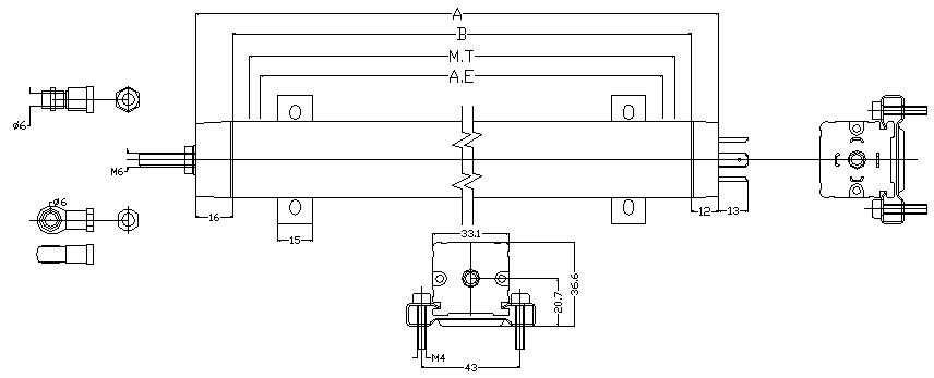 LWH拉杆系列直线位移传感器安装尺寸